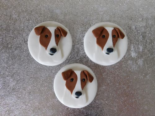 12 Jack Russell Cupcake Toppers